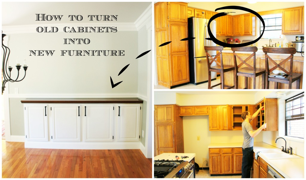 Reuse Kitchen Cabinets As Dining Buffet