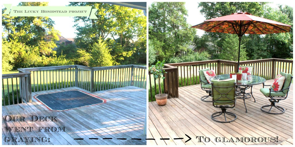 Back Deck Before and After