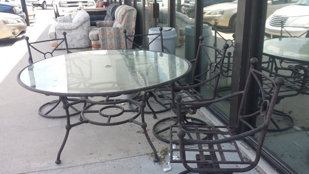 Deck furniture at store